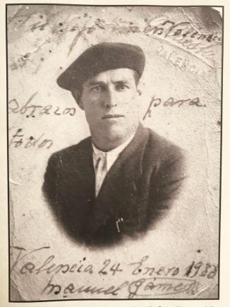 Manuel Gámez Benítez, exalcalde de Setenil. Foto aportada por el historiador Santiago Morneo Tello.