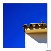 Fantástica composición con el azulado cielo de Setenil. Julio de 2009. Foto: CHARLY JPG, que nos manda saludos desde Catagena. Mäs imágenes suyas en este enlace http://goo.gl/3LNk37