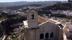 Inédita imagen de la portada de la Iglesia de la Villa.