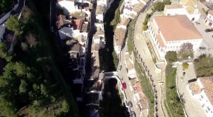 El río, a la altura del puente de Mollete y El Carmen.