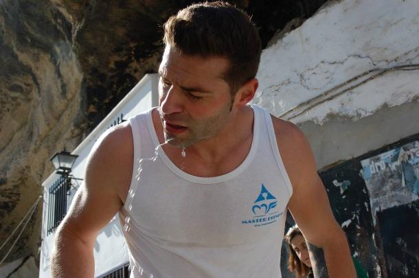 Los corredores hicieron un enorme esfuerzo. En l aimagen vemos a Pedro Javier Sierra Cueto, retratado por su padre. Foto. FRANCISCO SIERRA