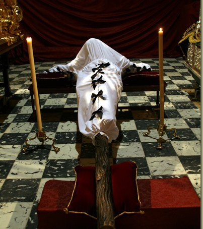 El Cristo antes del traslado.
