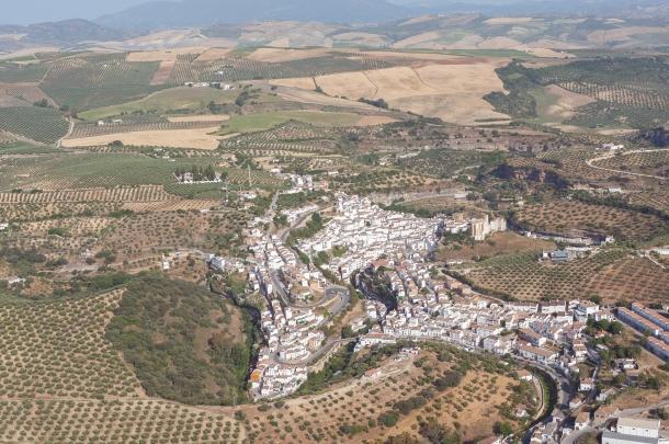 Imagen aérea del entorno del Setenil. Foto: Diputación de Cádiz.