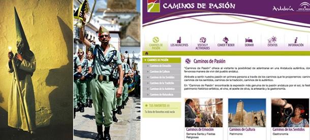 """Detalles de la Semana Santa de Setenil y de la página web de la Ruta """"Caminos de Pasión"""". Pincha aquí para enlazar http://www.caminosdepasion.com/"""