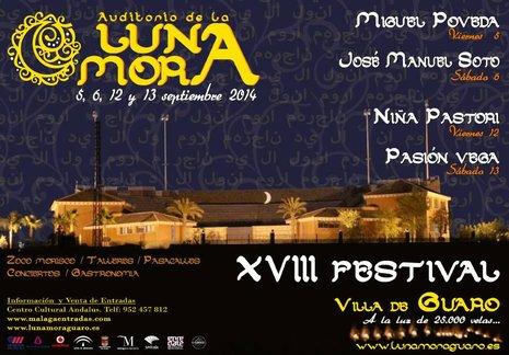 """Cartel del último Festival de """"La Luna Mora"""" de Guaro."""