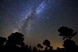 Imagen de una noche estrellada en Sierra Morena, que ha obtenido el certificado de la Unesco con el apoyo de la Junta.
