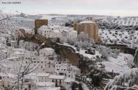 Nevada caída en Setenil el 28 de Febrero de 2013. Foto: LOLI CALVENTE.