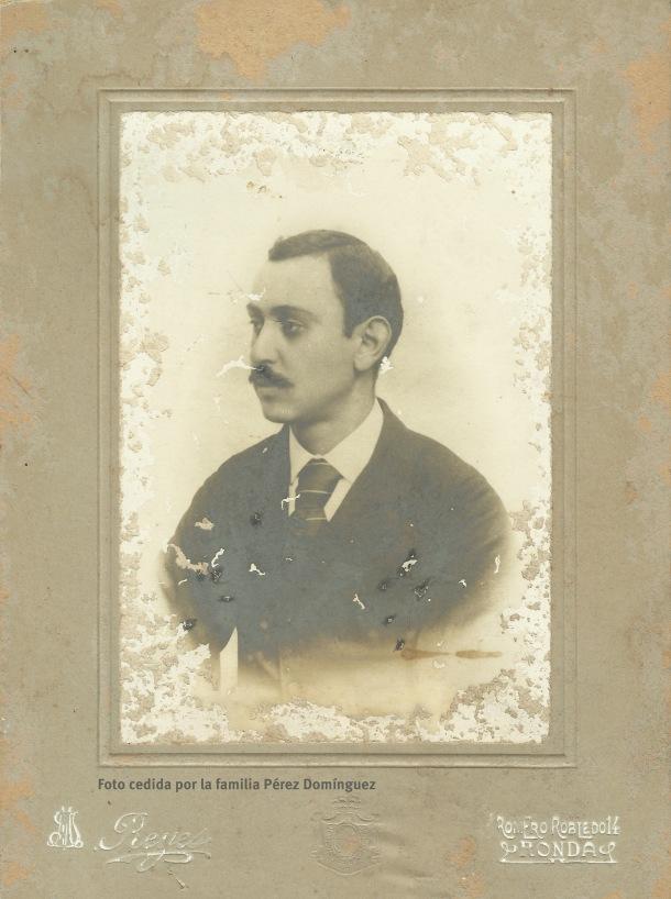 Retrato de José Pérez Benítez. Foto cedida por la familia Pérez Domínguez.
