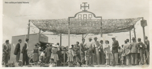 Romería, posiblemente 1954. Bar Los Negros