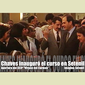 Cuando Chaves llegó a Setenil enhelicóptero