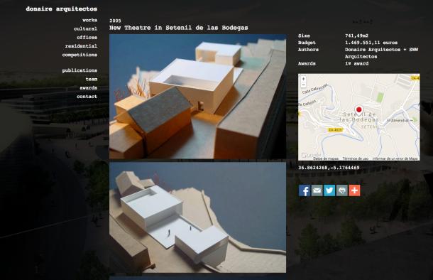 Proyecto de Teatro al aire libre para Setenil elaborado por el Taller de Arquitectos Donaire.