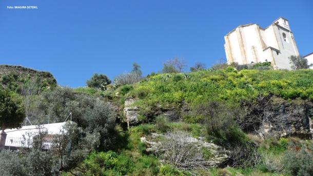 El conjunto de Los Cortinales y La Mina, antes de la restauración.