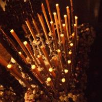 mpresionante candelería de la Virgen de los Dolores. Foto: LOLI CALVENTE
