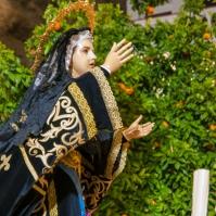 La Soledad, entre los naranjos de la Plaza. Foto: MARIO GARCÍA VARGAS