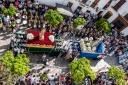 Momento culminante de la Semana Santa: el encuentro festivo del Resucitado y la Virgen del Rosario, que rubrica la Semana Santa. Foto: MARIO GARCÍA VARGAS