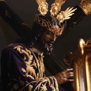Detalle de la magnífica imagen de Padre Jesús, una talla de mediados del siglo XX. Foto: LOLI CALVENTE