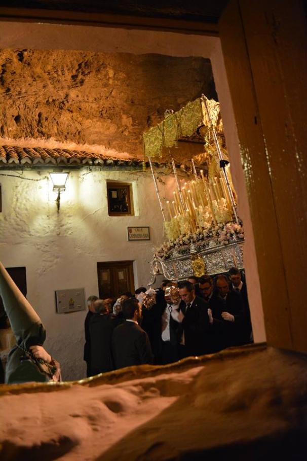 La Virgen de los Dolores, vista desde la ventana de Gonzalo el del Pan antes de girar hacia la calle Ronda. Foto: MARÍA GUZMÁN JIMÉNEZ