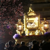 El Santo Entierro, en su solemne recogida. Foto: RODOGO.