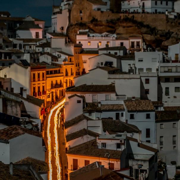 El Silencio, a su regreso al templo de la Villa casi al alba. Foto. MARIO GARCÍA VARGAS.