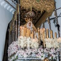 La Virgen de los Dolores, a su regreso a la Iglesia de la Villa. Foto: MARIO GARCÍA VARGAS.