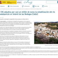 Confederación Hidrográfica del Guadalquivir. Nota de prensa sobre el Guadalporcún. 25 de marzo de 2015.