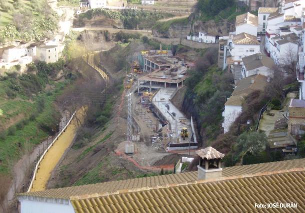 Vista aérea realizada por José Durán El Mecánico durante la realización de las obras.