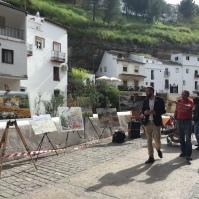 Los cuadros, expuestos en Las Cuevas del Sol. Los tres primeros premios pasan a ser propiedad del Ayuntamiento.