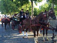 """esús Sánchez y José Ignacio Anaya participaron en """"Ronda Romántica"""" con un carruaje y caballos."""