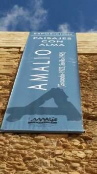 """Detalle del Torreón engalanado con la banderola de la exposición """"Paisajes del Alma"""". Foto: ÁNGEL MEDINA"""