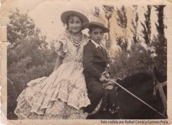 Rafael y Pepita Corral en la Romería de Setenil.