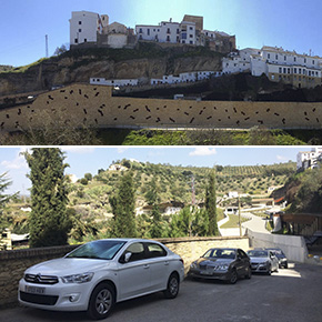 La interminable historia del millonario parking de Setenil