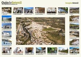 Mapa de Setenil. He optado por esta fórmula visual debido a la imposibilidad de reflejar el callejero del pueblo en un mapa tradicional. Descarga libre