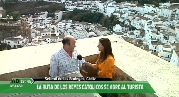 Sebastián Luque explica desde el Torreón el gancho de la incipiente Ruta de los Reyes Católicos.