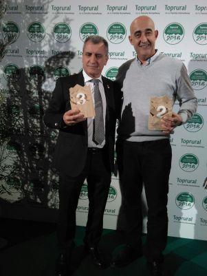 Los alcaldes de los dos municipios andaluces que han obtenido el merecido título: José Antonio González, de Frigiliana, y Rafael vargas, de Setenil.