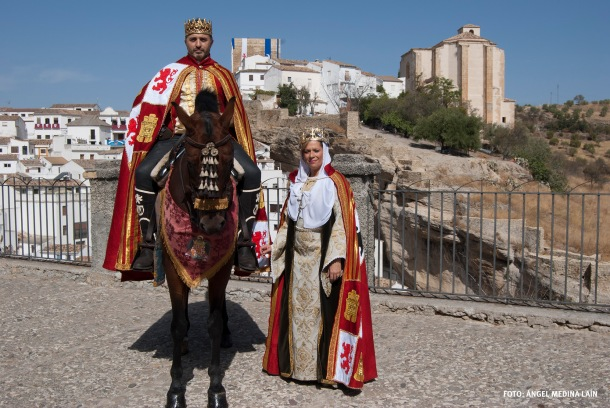 Los Reyes Católicos (Felipe y Ana), en El Carmen, uno de los lugares principales del asedio. Foto: ÁNGEL MEDINA