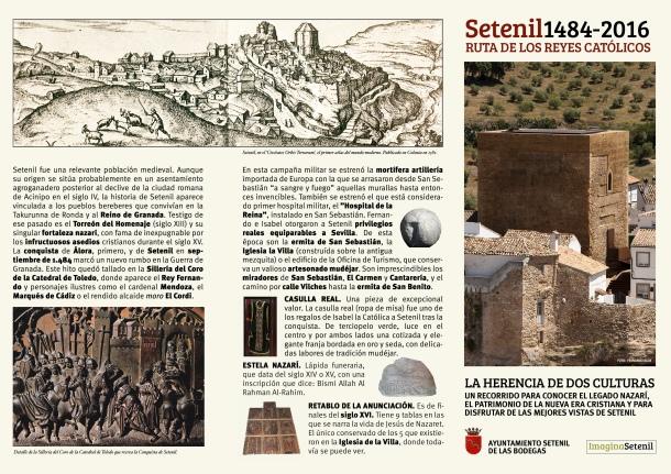 Pincha en la imagen para descargar el folleto de la Ruta de los Reyes Católicos.