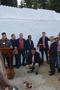 """El cantante Jesús González, vecino de Alcalá del Valle y concursante de """"Se llama Copla"""" interpretó con una enorme personalidad """"Al Alba"""", """"Ay pena penita pena"""" y el Himno andaluz. Le acompañó su hermano."""