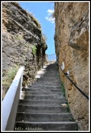 La subida del Carmen, cuyos 93 escalones picó a mano El Escarolo. Foto: FÉLIZ ABANADES