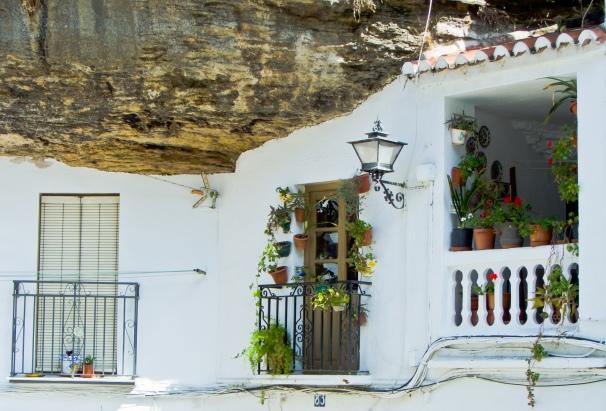 Detalle muy fotografiado por los turistas, la casa de Rosario en las Cuevas del Sol. Foto: JAVI PUERTO.