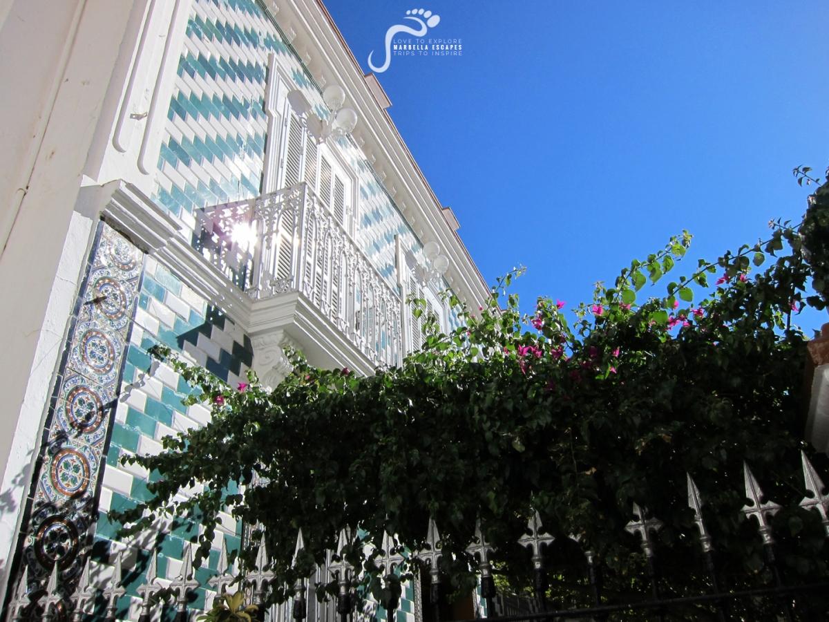 Detalle de la singular casa de Candidita, que fue el antiguo casino de Setenil. Foto: MARBELLA SCAPES.