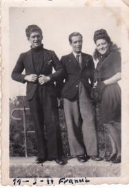 Tobalito Andrades, José Ramos y Maruja Andrades. Foto cedida por MARÍA JOSÉ GARCIA RAMOS.