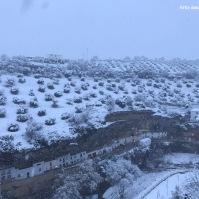 Las Cabrerizas, cubiertas por un manto blanco. Foto: ÁNGEL MEDINA LAÍN