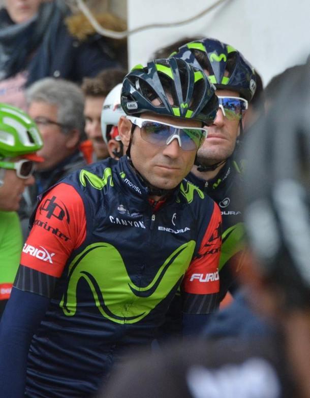 Alejandro Valverde, en las Cuevas del Sol, antes de la salida de una etapa que supuso su victoria número cien y le sitúa en la leyenda del ciclismo español. Foto: MARIA GJ