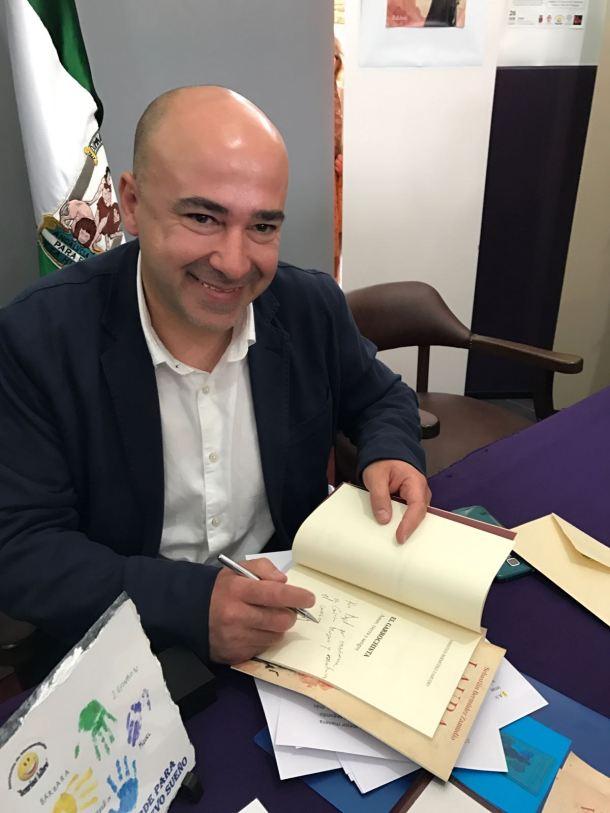 """Sebastián Bermúdez Zamudio, durante la presentación de """"El Garrochista"""". Foto: ÁNGEL MEDINA LAÍN"""