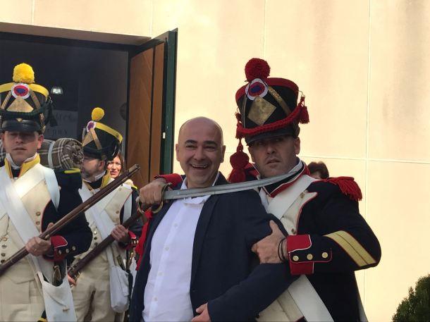Los soldados franceses se vengan del creador de Francisco Tudó. Foto: ÁNGEL MEDINA LAÍN