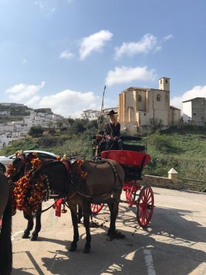 El magnífico carruaje de los Sánchez despertó la atención del respetable. Foto: ÁNGEL MEDINA LAÍN