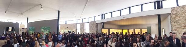 Panorámica del público durante la presentación de la novela de Sebastián Bermúdez Zamudio. Foto: JACKY KOOKER