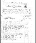 Relación de los daños causados en los templos de Setenil en la destrucción realizada por el párroco Jerónimo Troya, firmado firmado el 20 de agosto de 1939. Pagina 1