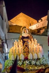 La Soledad, en su recorrido de descenso de la Plaza a San Benito. Foto: MARIO GARCÍA VARGAS