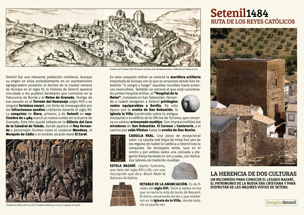 Pincha en la imagen para descargar el folleto de la Ruta de los Reyes Católicos elaborada por Imagina Setenil.